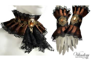 Steampunk jewelry set by vilindery