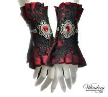 Red Victorian cuffs