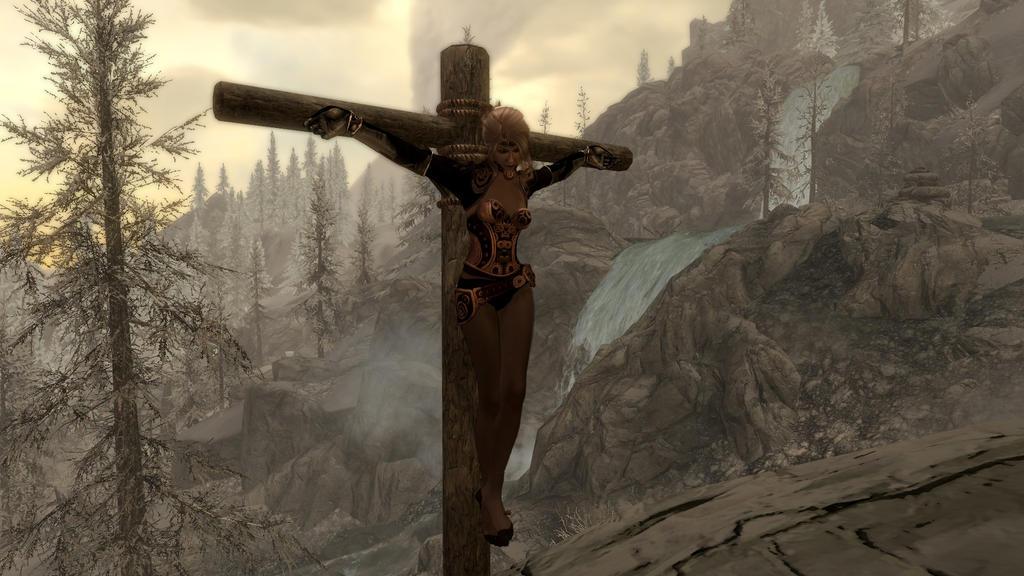 Erotic crucifixtion