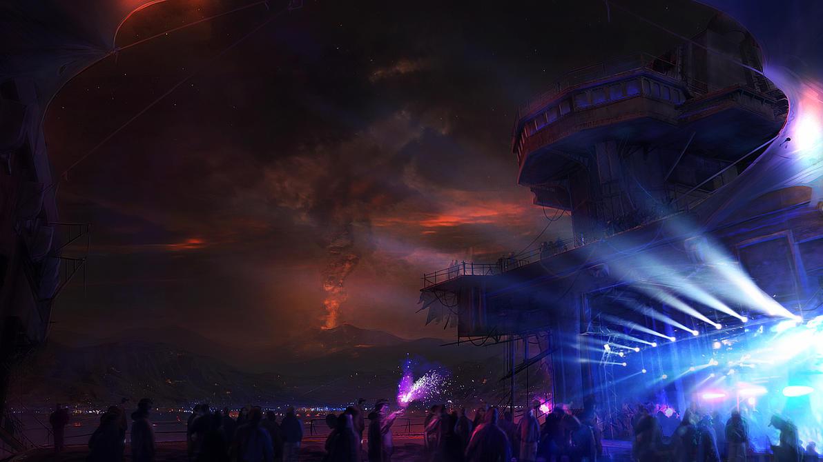 Volcano mood by cesarsampedro