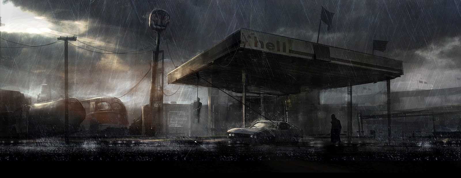 Petrol Station by cesarsampedro