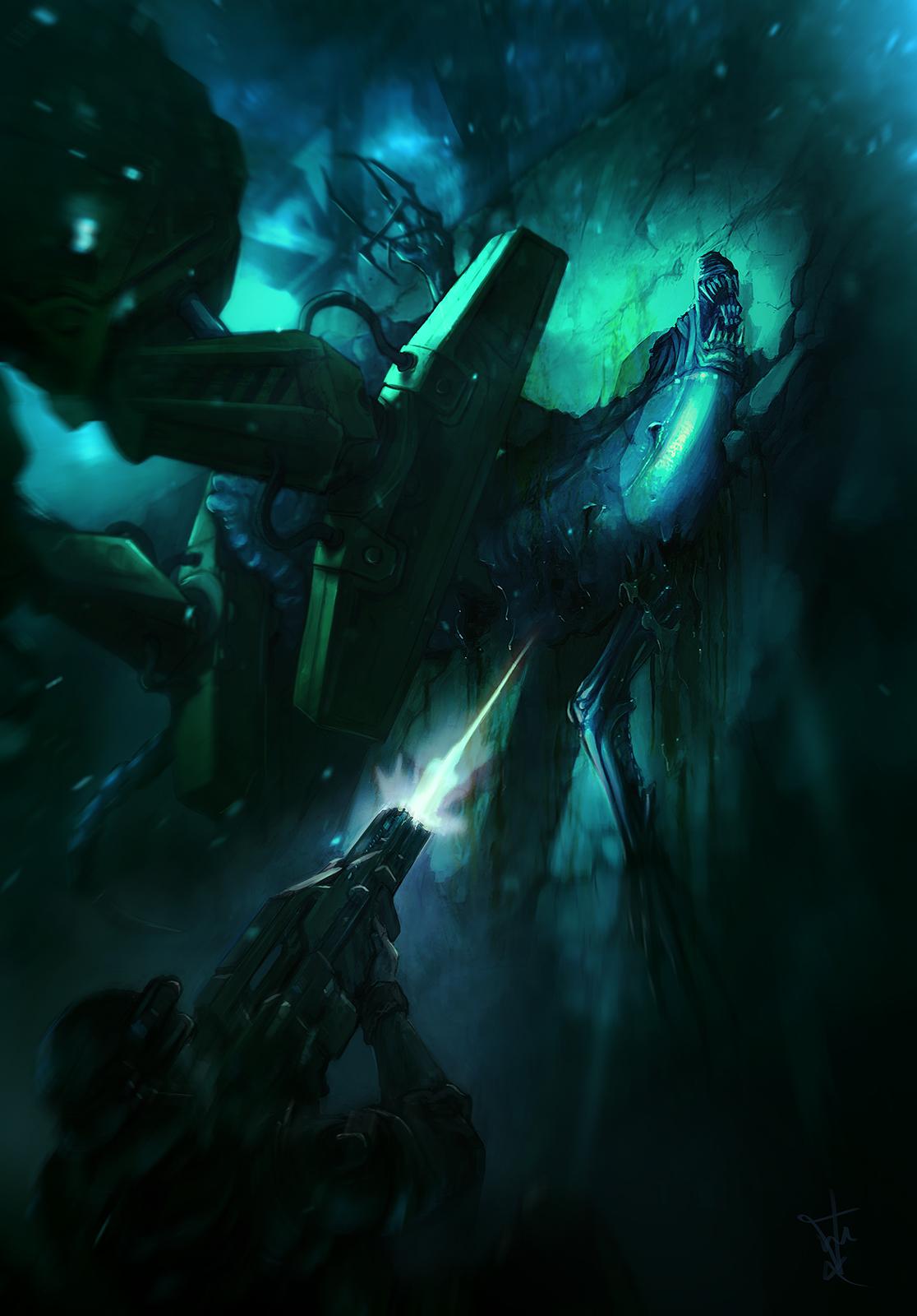 Aliens by cesarsampedro