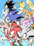 Sonic Group Together (colored)