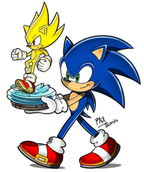 Sonic's New Statue by RGXSuperSonic