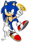 2018 - Sonic Channel: Sonic with ring by RGXSuperSonic