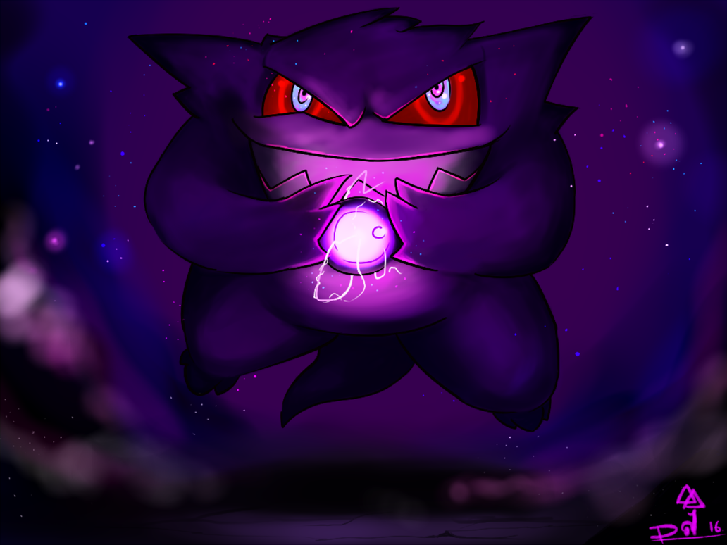 Haunted Gengar by Furious-Draco