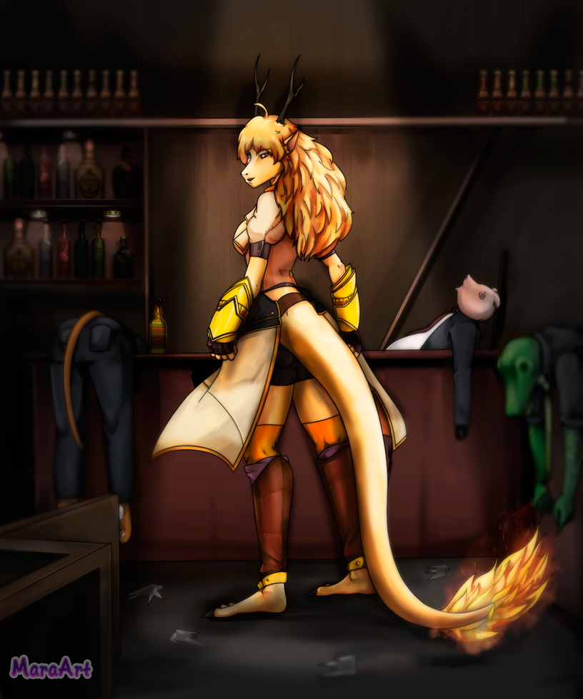 Yang Xiao Long Wallpaper: I Burn!- Yang Xiao Long Fan-Art By MaraArtWorld On DeviantArt