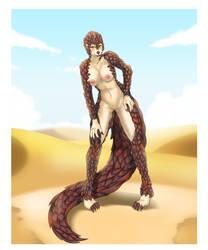 Lady in the Desert by MaraArtWorld
