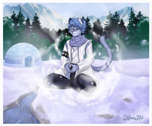 Calm Mind in Strong Winter (Commission)