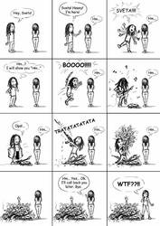 comics about me and Sveta :) by EvilPirate