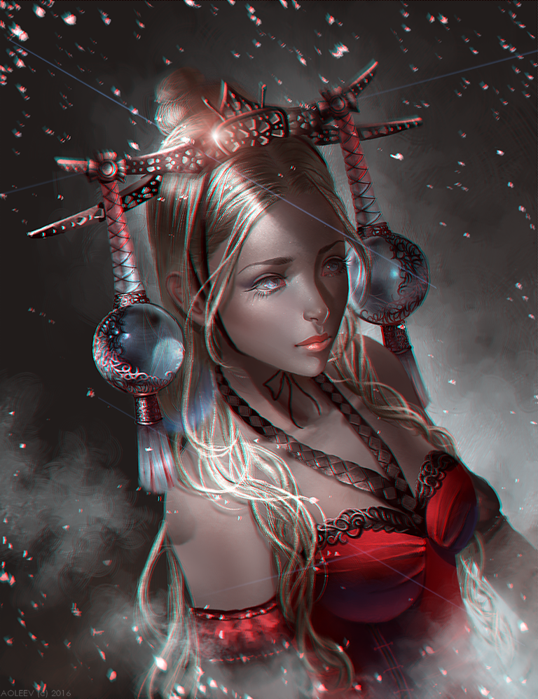 Red Dress by Aoleev