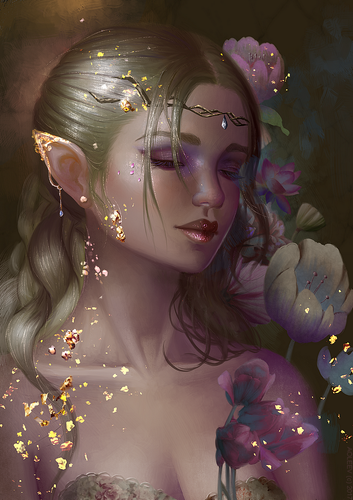 Gold Flakes by Aoleev