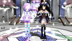 MMD Neptune and Noire by AnjuSendo