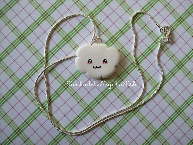 Cloud Necklace 1 - White by FunkadelicPsychoFish