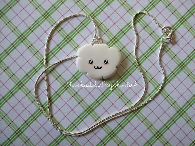 Cloud Necklace 1 - White by FunkadelicPsychoFish