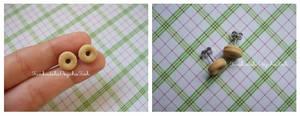 Donut Earrings 1 - Vanilla by FunkadelicPsychoFish