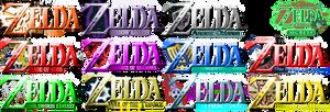 Twelve Legend of Zelda Fan Logos List 1