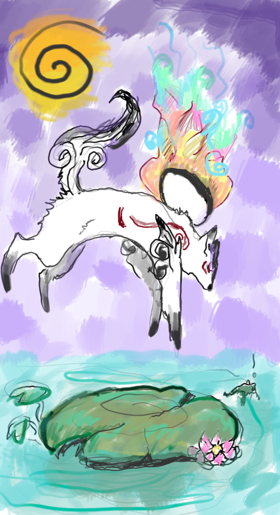 okami speed paint 1 by Wolven-zuivere