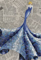 blue dress by Lady-with-a-buzzsaw