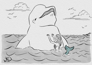 Inktober 2018 - 12 Whale by WindInTrees