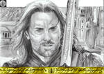 Aragorn Elessar the King of Gondor by N13galvao