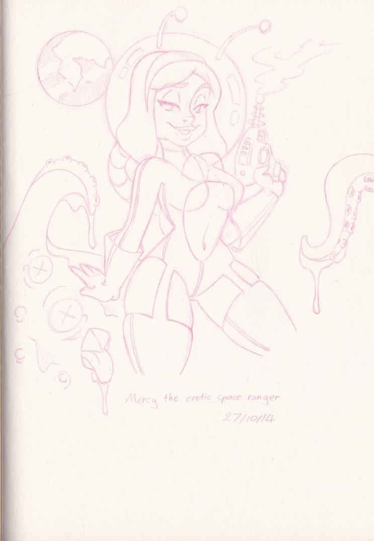 Erotic Space Ranger sketch by LLToon