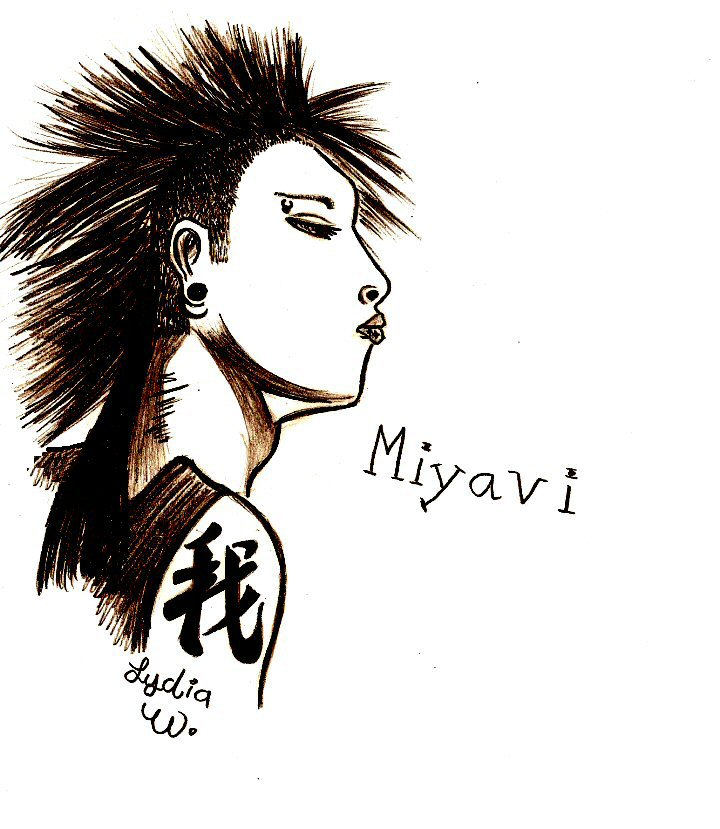 Mohawk Miyavi By Lydiagirl On Deviantart