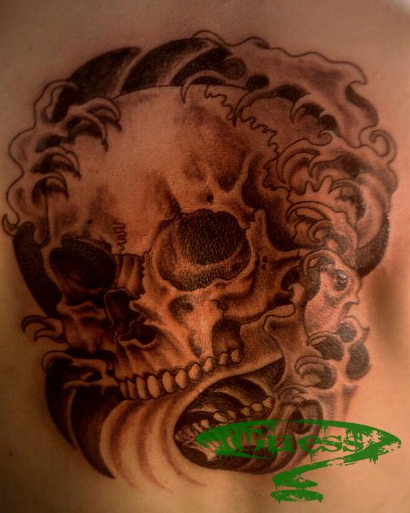 Skull Back Piece: Skull Back Piece By Jahrepin On DeviantART