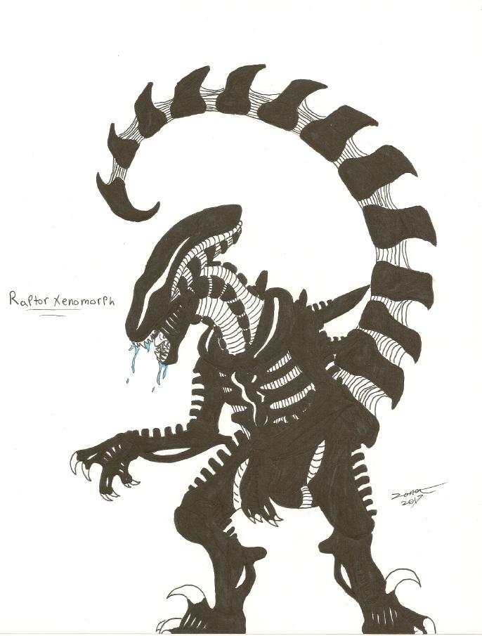 Raptor xenomorph by AFlahrman on DeviantArt