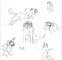 Cujo sketch sheet by AFlahrman