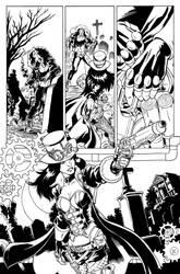 Helsing #1 Zenescope tryout page
