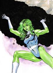 FF She-Hulk Commission by davidjcutler