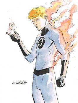 Human Torch con sketch