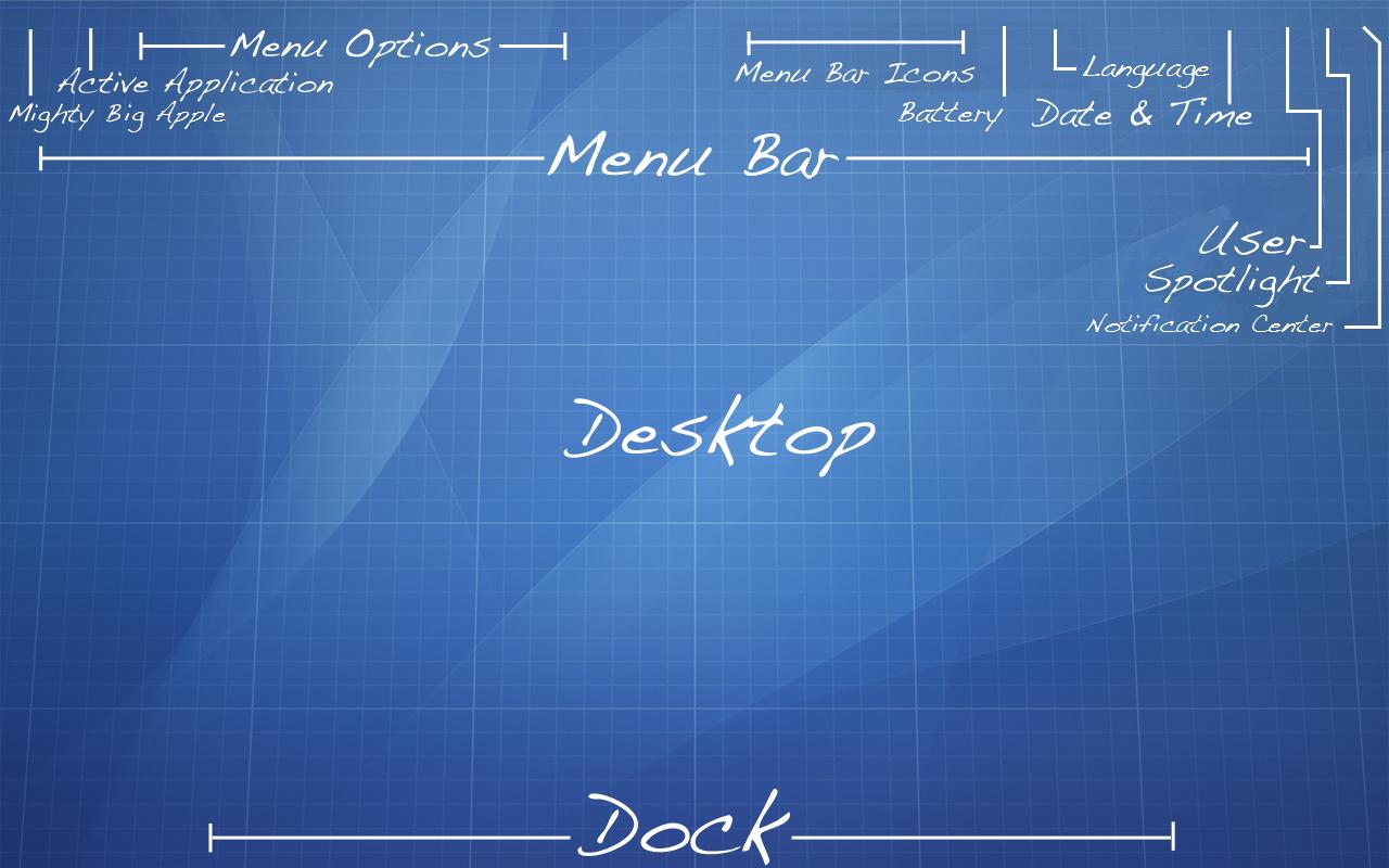 Blueprint Wallpaper for Mac OS X Mavericks 10.9.x by recoxblazer