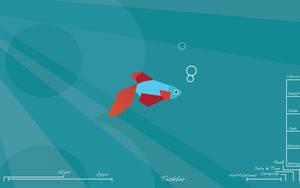 Windows 8.1 Metta Fish Blueprint Wallpaper by recoxblazer