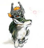 Midna and Wolf Link by clubcool