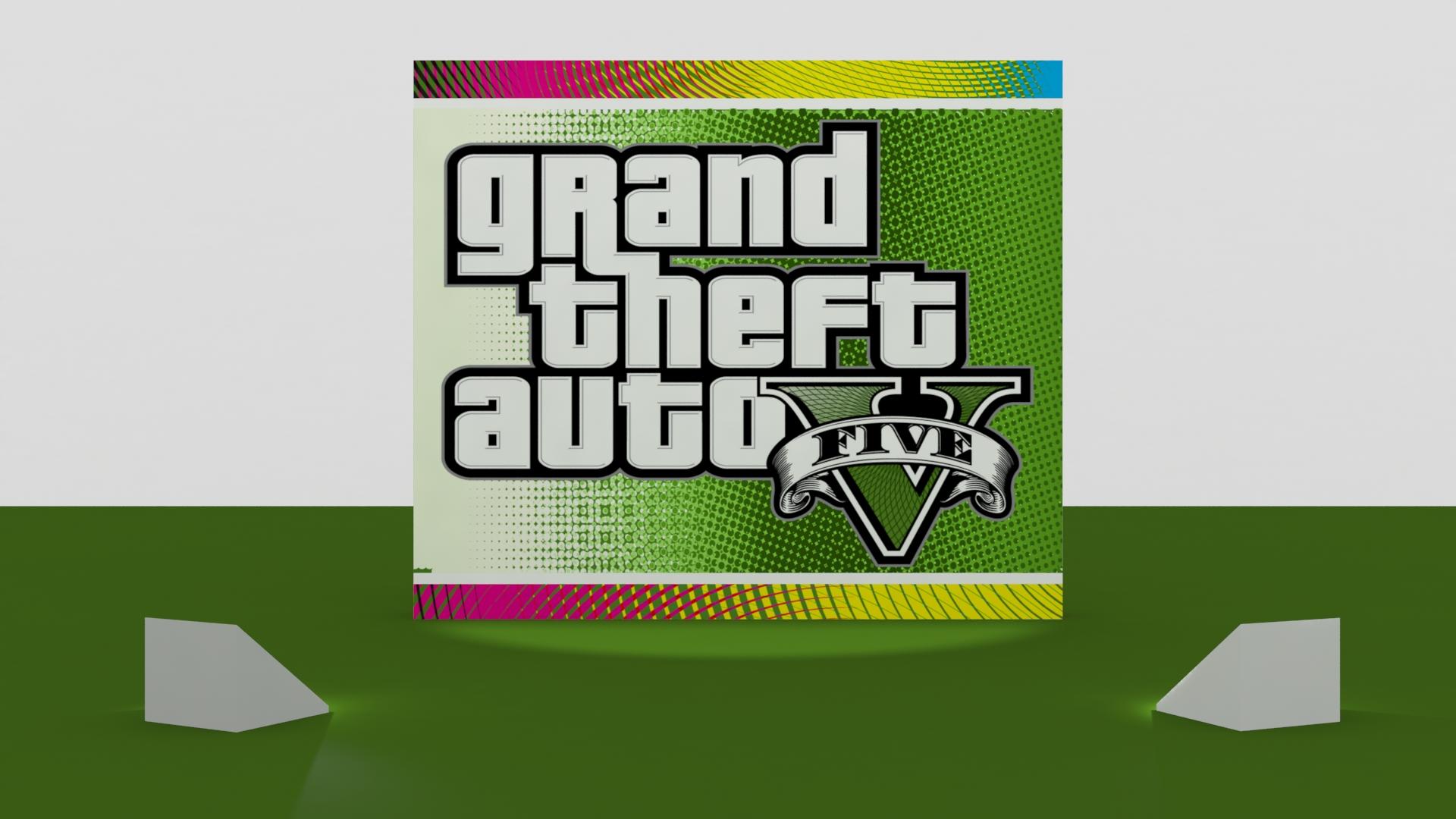GTA V Logo 3D Wallpaper By Binary-Map On DeviantArt