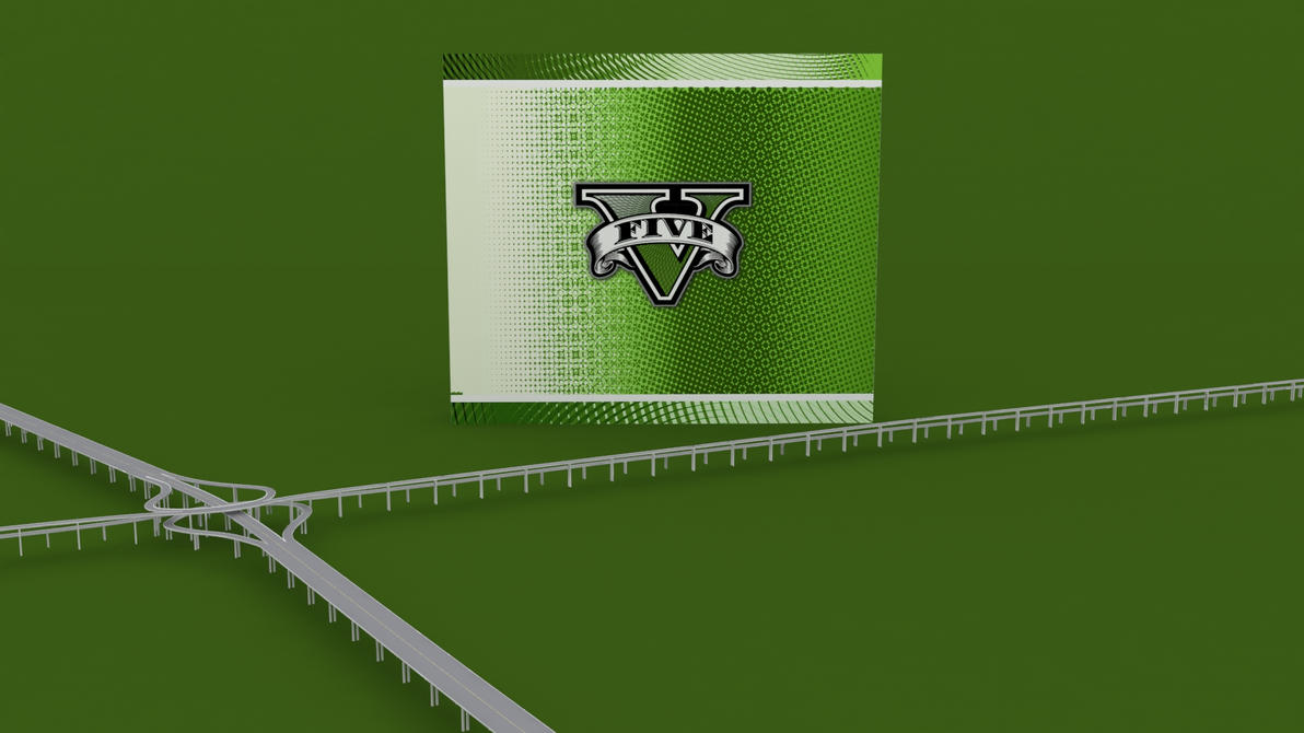 GTA V 3D Wallpaper by Binary-Map