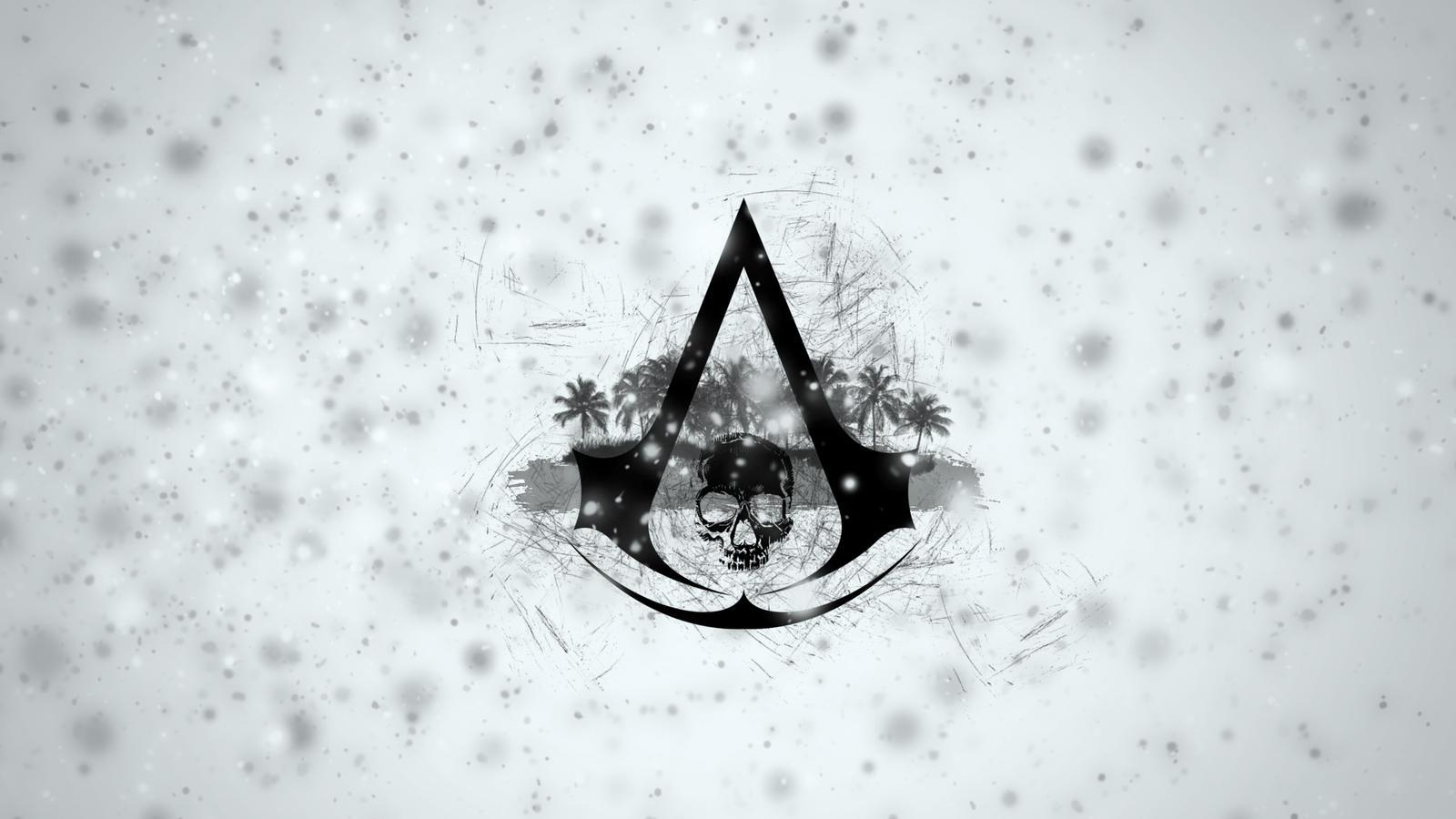 assassins creed 4 black flag logo wallpaper by binarymap