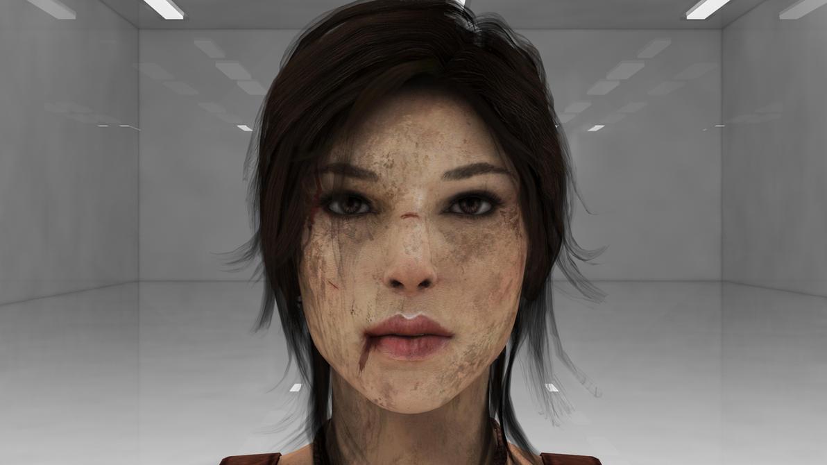 Lara croft facial