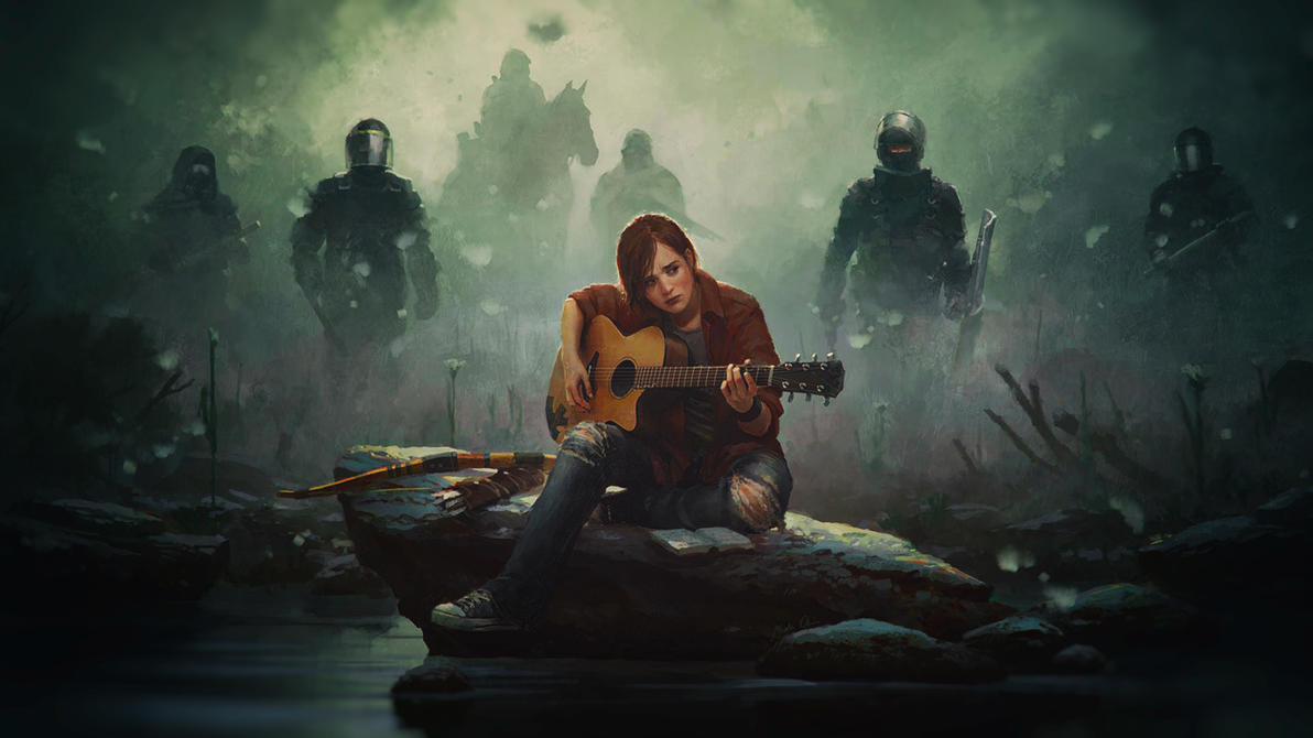 Last Of Us Ellie Drawing By Binary Map