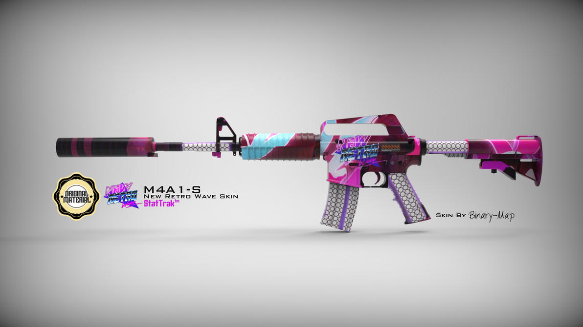 M4A1-S - NewRetroWave Skin by Binary-Map