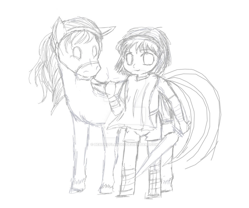 Chibi training --- Agro and Wander by BeatrizFlandes