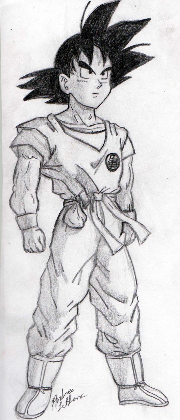 Goku - Sketch #1 by Jaylastar