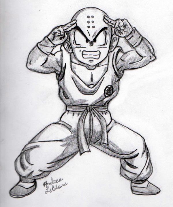 Krillin - Sketch #1 by Jaylastar