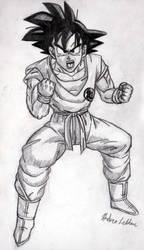 Goku - Sketch #3 by Jaylastar