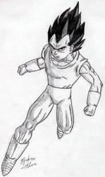 Vegeta - Sketch #3 by Jaylastar