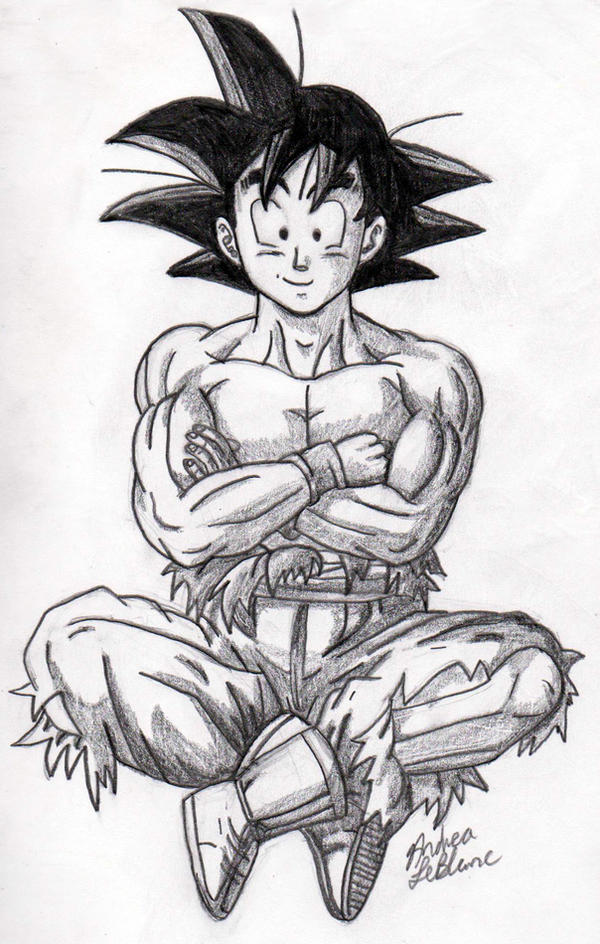 Goku - Sketch #4 by Jaylastar