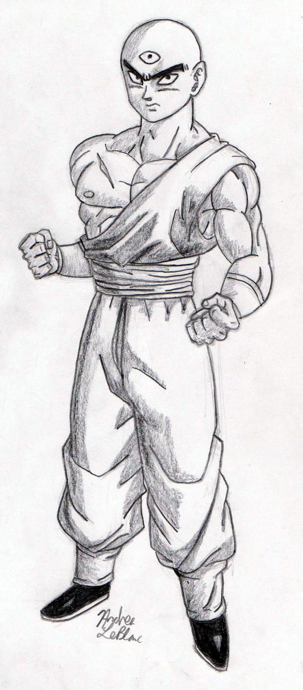 Tien - Sketch #1 by Jaylastar
