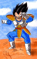 Vegeta - Fighting Stance by Jaylastar